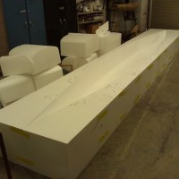 The mold after the second stage of sanding.