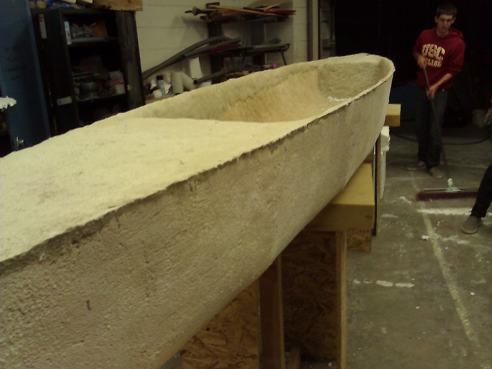 canoe fresh out of the mold