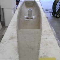 Meanwhile, the canoe's almost ready to de-mold...