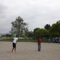 Meanwhile, the volleyball tournament was happening, along with other events.