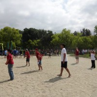 We were somewhat competitive in the volleyball tournament but ended up losing our first match.