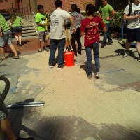 After the competition, we had to carry all of the sand back out.
