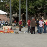 Meanwhile, the steel bridge competition was beginning at Pardee Plaza
