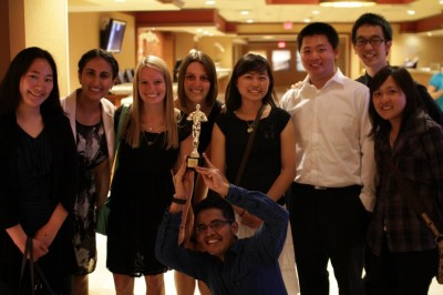 Last year's environmental team with their 1st place trophy
