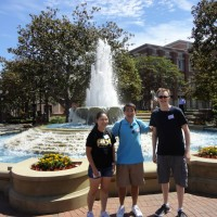 ASCE reps with a fountain
