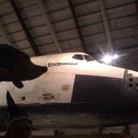 Phil with the Endeavor Space Shuttle