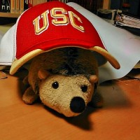 Phil found a USC hat