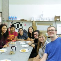 The Building Science class enjoys Phil's waffles in our architecture studio