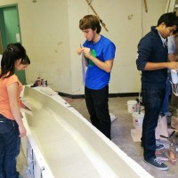 Covering the mold with contact paper
