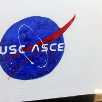 USC ASCE NASA-style logo on our Space Shuttle Cutaway Section.