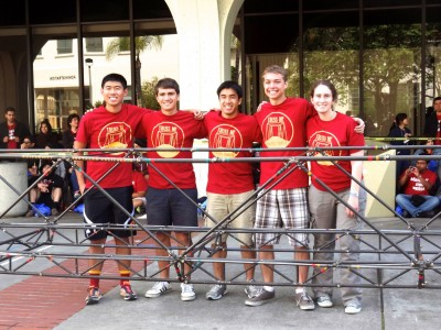 Bridge assembly competition team.