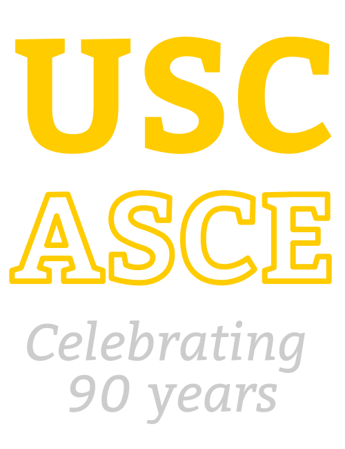 USC ASCE Logo: Celebrating 90 years