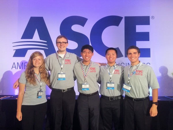 USC ASCE Reps at the 2014 ASCE Global Engineering Conference