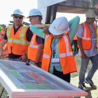 ASCE Students and Members overlook the Panama Canal expansion construction project
