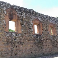 Antigua Panama - 17th century ruins: restored and original brick arches