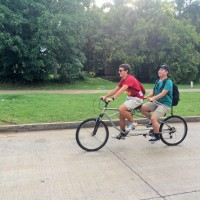 USC ASCE President and VP Winston and Tedman share a tandem