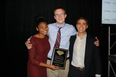 PSWC Co-chairs Lucy and Nick with USC ASCE President Winston and our *3rd place overall award.