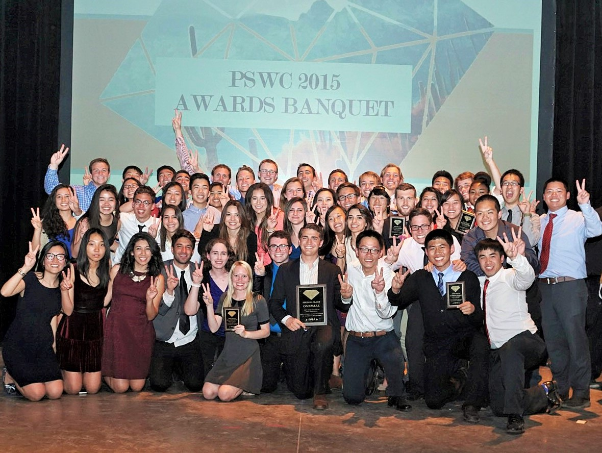 USC ASCE PSWC 2015 Team Photo with Awards