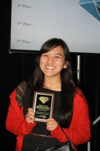 Sylvia Tran, 2015 USC ASCE Technical Paper Author, with her 1st place award.