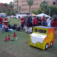 Our Dog House represented food trucks of the Los Angeles area, featuring a different kind of food truck on each side.