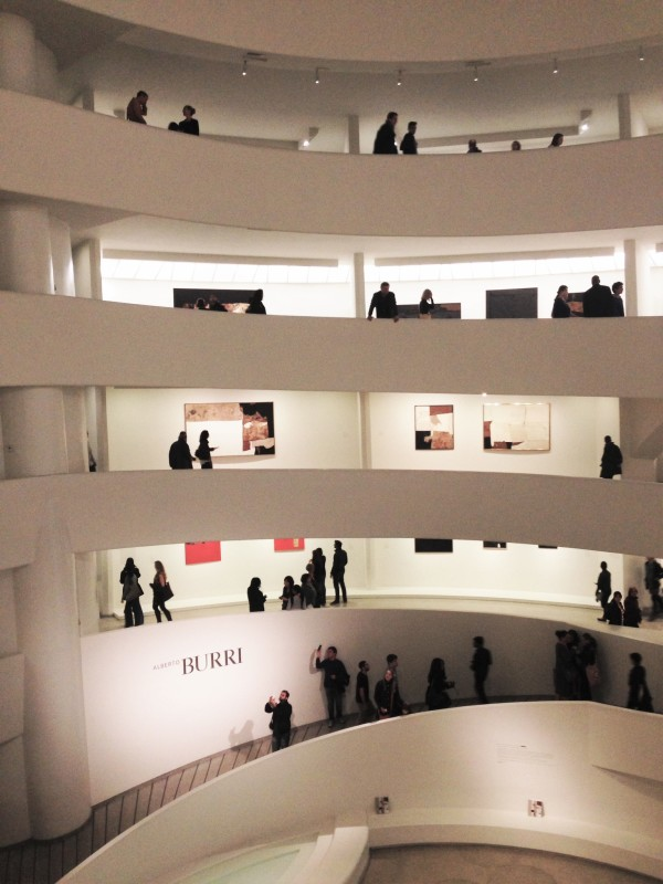 The spiral gallery at the Guggenheim Museum.
