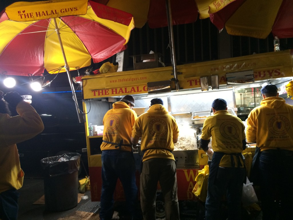 The Halal Guys food cart.