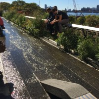 Water feature on the High Line.