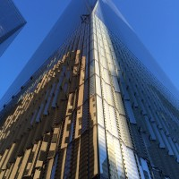 One World Trade Center - corner facade.