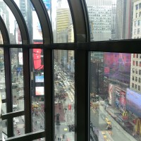 Overlooking Times Square from the convention hotel during a networking break.