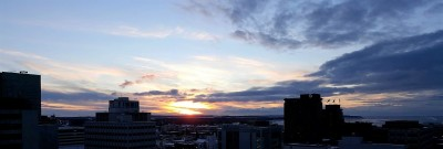 Sunset in Anchorage (about 4:15 PM)