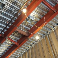 Brace beams are installed to help resists earthquake damage