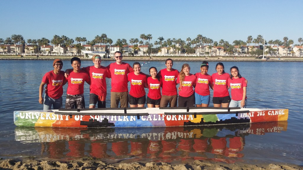 2016 USC Concrete Canoe Team with That '70s Canoe