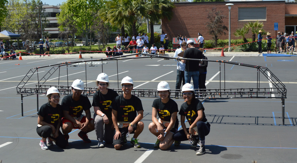 2016 USC Steel Bridge Team with their Bridge